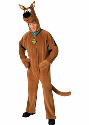 Scooby Doo Costume Mens Licensed Cartoon Halloween Fancy Dress Adult Outfit • 40£