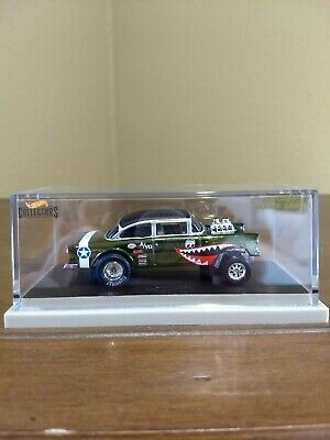 2019 Hot Wheels RLC '55 Chevy Bel Air Gasser WWII Flying Aces Tiger #7656/12000 • 180$