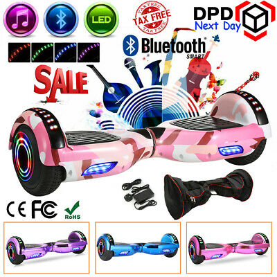 "View Details 6.5"" Self Balance Scooter Electric Scooter Balancing Board Bluetooth+LED Wheel • 105.00£"