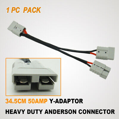 AU28.95 • Buy 50A AMP Anderson Plug Connector 2 -1 Splitter Extension Wiring Harnes Y Cable DT