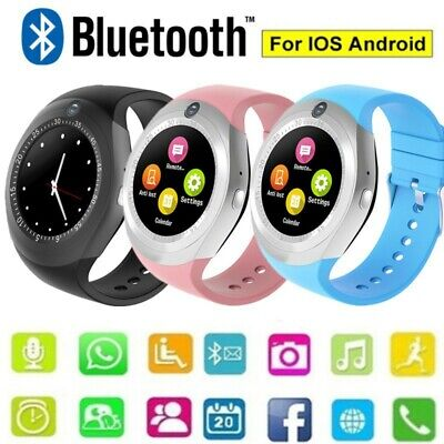 Bluetooth Smart Watch Android With Camera Fitness Tracker Pedometer SIM Card Y1S • 12.39£