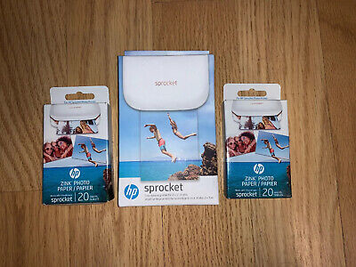 View Details HP Sprocket 100 Smartphone Photo PrinterX7N07A  With 2 Packs Of Photo Paper • 61.00$