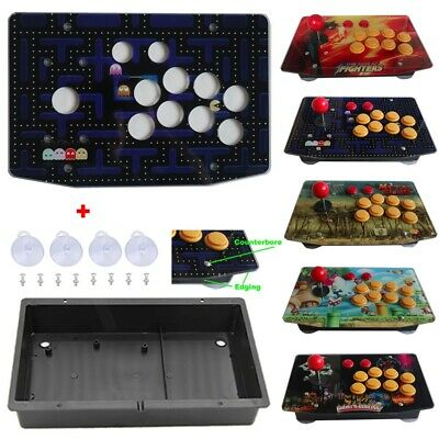 $34.99 • Buy DIY Arcade Joystick Kits Parts Acrylic Artwork Panel 10 Buttons Flat Case Box