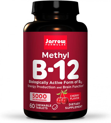Jarrow Formulas Methylcobalamin (Methyl B12), Supports Brain Cells, 60 Lozenges • 13.98£