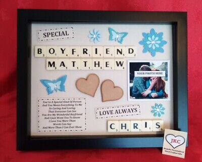 BOYFRIEND Personalised GIFT FRAME Picture Valentine Birthday Christmas Keepsake • 22.99£