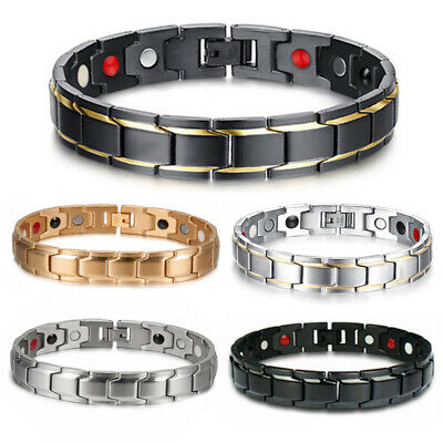 $6.64 • Buy Men Women Therapeutic Energy Healing Magnetic Bracelet Therapy Arthritis Hot! #z