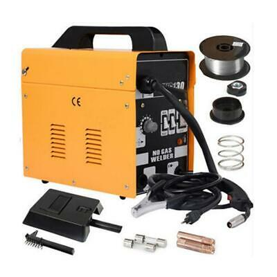 MIG 130 Portable Welder 230V DC No Gas Welding Machine Gasless 120A 120 Amps YL • 77.99£