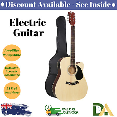 AU112.75 • Buy 41  Inch Acoustic Electric Guitar Wooden Classical EQ With Pickup Bass Natural