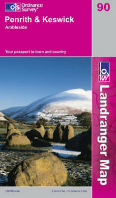 OS Landranger Map: Penrith & Keswick: Ambleside : Your Passport To Town And • 9.32£