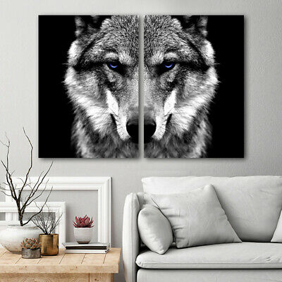 $ CDN21.38 • Buy Wall Art Picture Wolf Head Animal Poster Nordic Style Black White Canvas Print