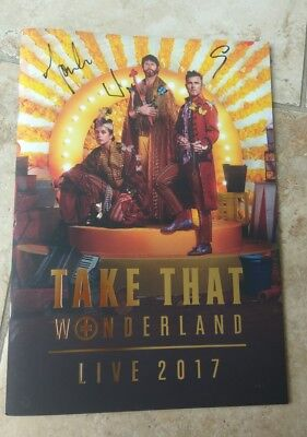Take That Autographs *Wonderland*2017 Hand Signed Tour Programme Gary Barlow • 34.99£