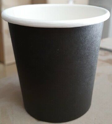 AU18.81 • Buy 4 Oz 120ml Black Disposable Coffee Espresso Paper Cup Shot Expresso Tasting Wall