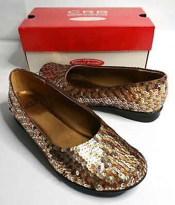 $21.97 • Buy Canyon River Blues Sequin Slip-on Women's Gold-Bronze Heel Sandals Flats Size 7