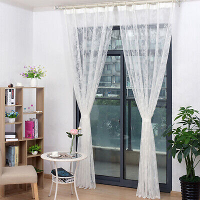 Lace Yarn Europe Style Gauze Voile Curtains Bedroom Window Tulle Home Decor 6A • 6.67£