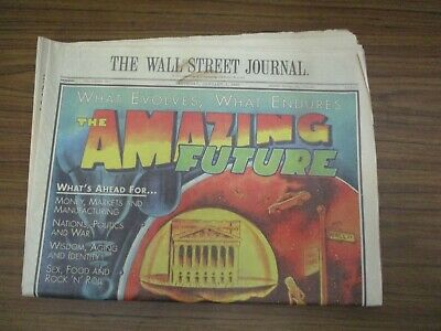 $19.99 • Buy The Wall Street Journal Saturday, January 1, 2000  The Amazing Future
