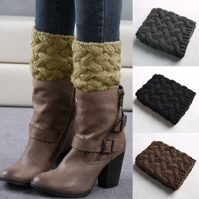 £6.25 • Buy Women Crochet Thick Knitted Boot Cuffs Winter Leg Warmers Socks Ankle Toppers UK