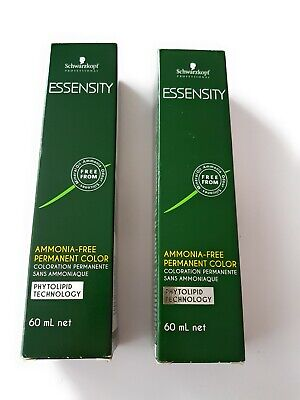SCHWARZKOPF PROFESSIONAL ESSENSITY Permanent Hair Color 60ml X 2 Ultrablond Ash • 12.99£