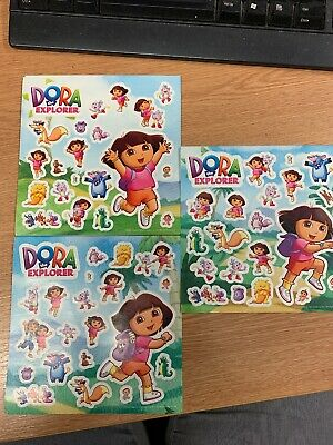 3 Dora The Explorer -Wall Stickers Kids Party Bag Favours - Official Nickelodeon • 1.25£