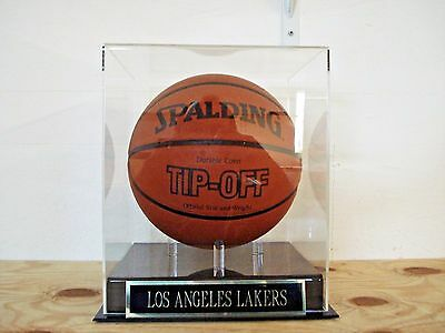 Los Angeles Lakers Basketball Display Case W/ An Engraved Nameplate • 69$