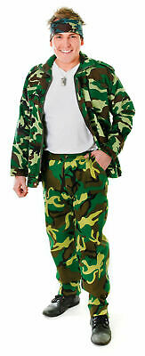 £9 • Buy Military Men's Camouflage Army Trousers For Adult Fancy Dress One Size