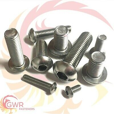 £2.71 • Buy Unc Socket Button Head Screws A2 Stainless Steel Imperial Harley Allen Bolts Gwr