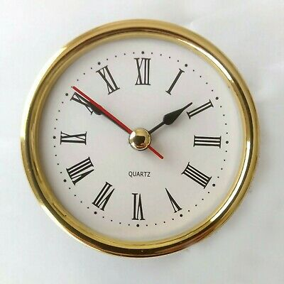 65mm Desk / Carriage Clock Mechanism Movement Roman Numerals Quartz DIY Clocks • 5.50£