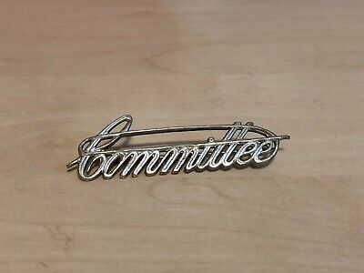 Unusual Large Vintage Metal Committee Badge Safety Pin / Wire Type Design • 9.99£