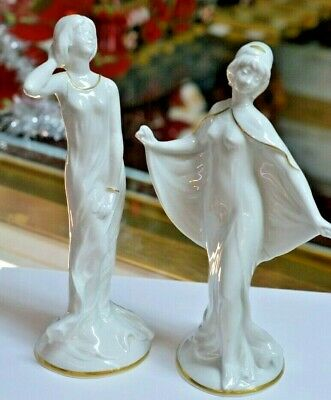 $ CDN163.03 • Buy Porcelain Capodimonte 2 Figurines Of Ladies Dancing Marked N With A Crown Italy