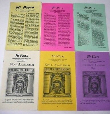 Rare Piers Anthony Fantasy Book Hi Piers Newsletter Lot 6 Xanth Incarnations • 38$