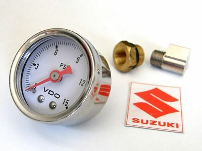 Suzuki Engine Motor OIL PRESSURE GAUGE KIT Gs1100 Gs1000 Gs850 Gs750 Gs650 Cafe • 52.99$
