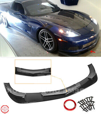 $169.99 • Buy Front Lower Lip Splitter For 05-13 Corvette C6 BASE | BLACK ZR1 Extended Style