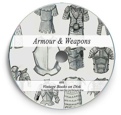 £3.90 • Buy Rare Books On DVD - Weapons Armour Medieval Swords Antique Muskets Gun Cannon F8