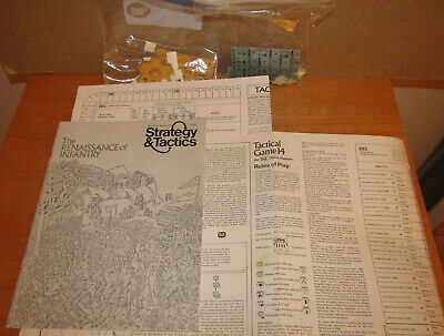SPI Strategy Tactics Tactical 14 War Game Punched + Mag #22 Renaissance Infantry • 15$