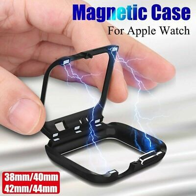 $ CDN5.70 • Buy For Watch Series 5 4 3 2 1 IWatch Magnetic Metal Case Bumper 360° Cover
