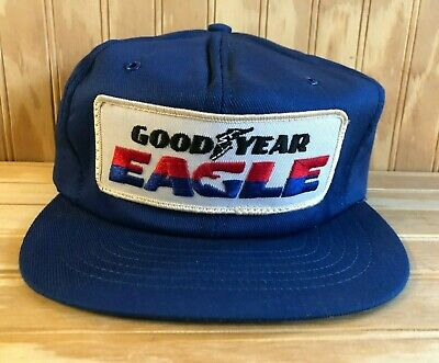 Vintage Goodyear Eagle Tires Trucker Hat Racing Cap Blue 1970's Formula 1 Rare • 99$
