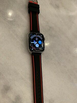 $ CDN568.07 • Buy Apple Watch Series 4 44 Mm Stainless Steel Case With Red/Black Band (GPS +...