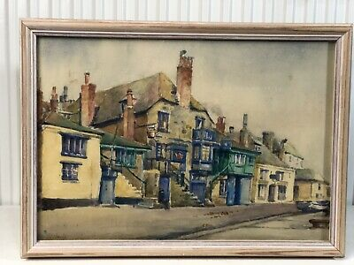 Original Watercolour Painting By G.E Bayly / Copper Kettle Cottage 1931 St Ives • 100£