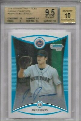 $12 • Buy 2008 Bowman Draft Chrome Pros. #BDPP116 Ike Davis BGS 9.5 AUTO