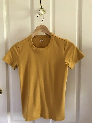 AU25 • Buy Uniqlo Cotton Tee Mustard Size S