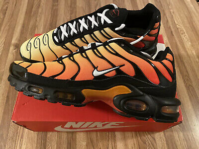 $136.97 • Buy New Nike Air Max Plus OG TN Tiger Sunset Orange Black 852630 040 Mens Size 11.5