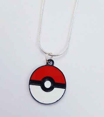 New Pokemon Pokeball Necklace 40cm Snake Chain Geeky Game Anime • 2£