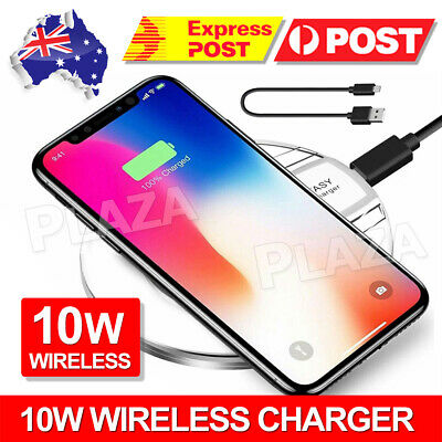 AU6.90 • Buy IPhone11 Pro Max XS XR 8 Wireless Charger Charging Pad For APPLE Samsung S10 S9