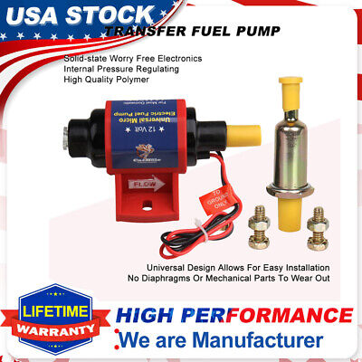 $21.99 • Buy Mighty Universal Electric Fuel Pump 12V 4-7 PSI 35 GPH Gas Gasoline W/Carburetor