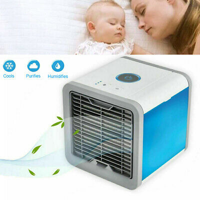 AU29.98 • Buy Mini Home USB Fan Air Conditioner Summer Naturally Cool Small Cooling Portable