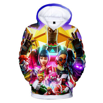 $ CDN13.07 • Buy BEST Men Women Kids Fortnight Gamer 3D Battle Royale Warm Hoodies Sweatshirts