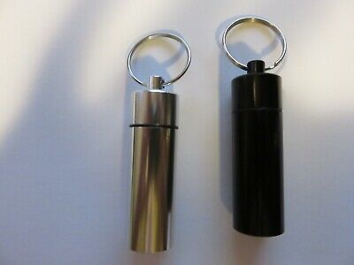 $9.99 • Buy 2-pcs. Aluminum Keychain Pill Holder  2 Pcs Waterproof Pill Case Containers-Pair