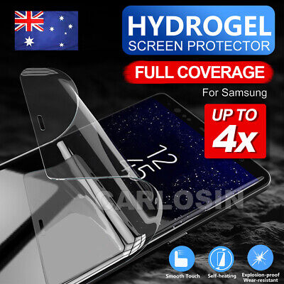 AU2.95 • Buy 4X HYDROGEL Screen Protector For Samsung Galaxy S10 5G S9 S8 Plus Note 10 8 9 S7