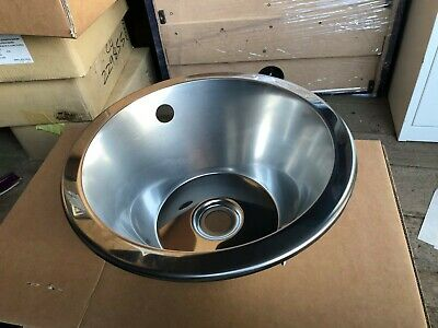 Franke Polished Stainless Steel Round Vanity Basin Bowl  • 27£