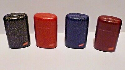 £2.99 • Buy Lighter Windproof Gas Turbo Jet Refillable  4  Colours  New  Leather  Design
