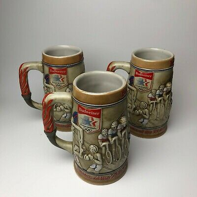 $ CDN38.09 • Buy Lot Of 3 1984 Olympics Budweiser Steins Los Angeles USA Collectible
